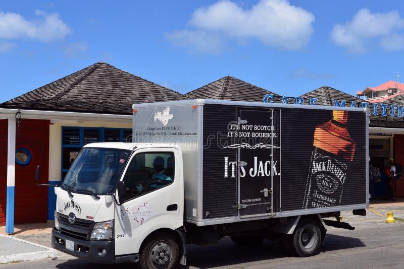 Camión de reparto de Jack Daniels fotografía de archivo libre de regalías