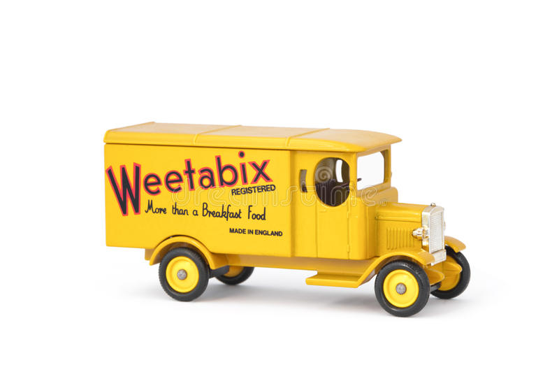 Camión de reparto de Weetabix imagenes de archivo