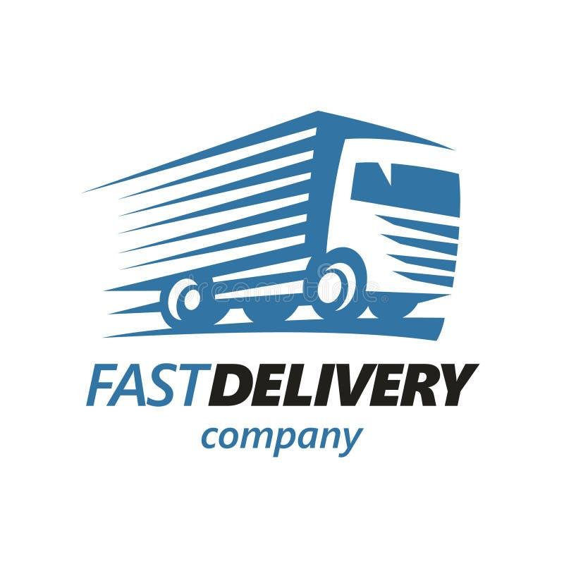 Camión de reparto rápido Logo Template Vector ilustración del vector