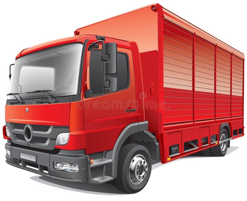 Camión de reparto rojo stock de ilustración