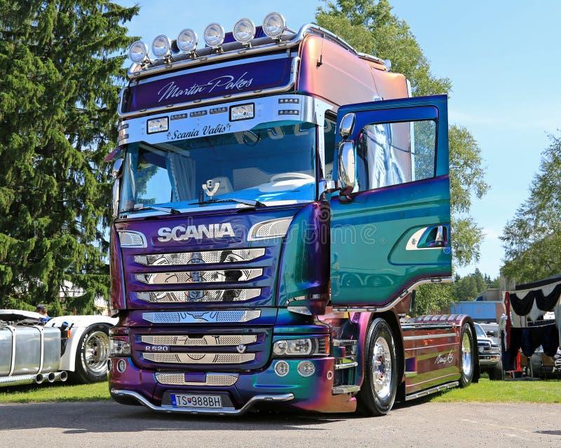 Camión de Scania R520 de Martin Pakos imágenes de archivo libres de regalías