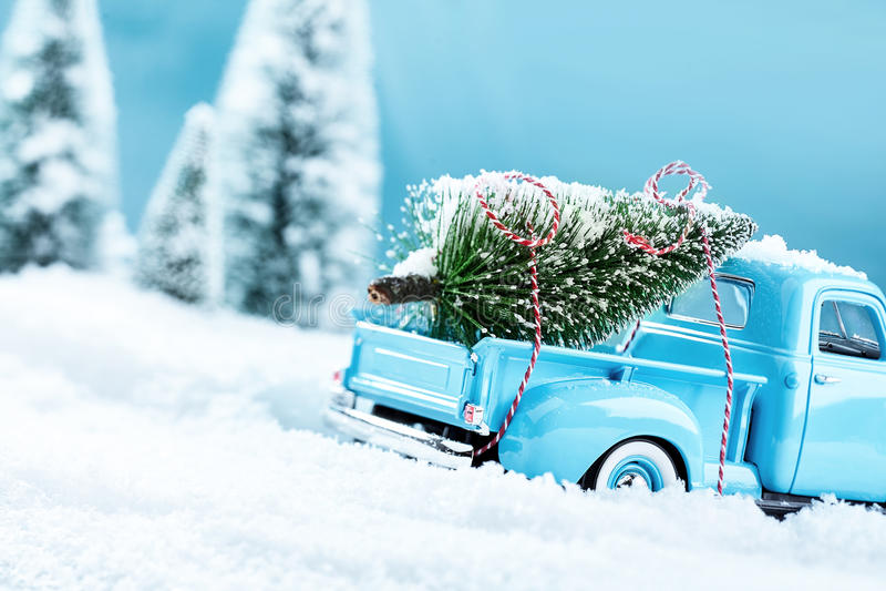 Camión del árbol del mas x fotografía de archivo libre de regalías