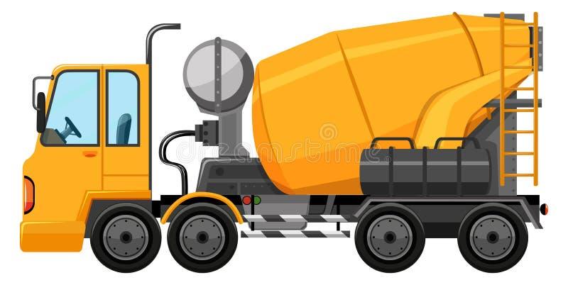 Camión del cemento en color amarillo stock de ilustración