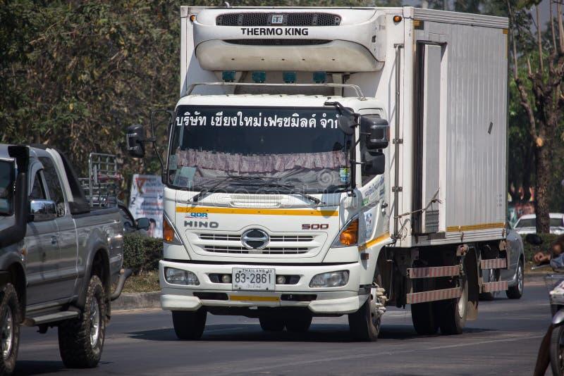 Camión del envase de la leche fresca de Chiangmai fotografía de archivo libre de regalías