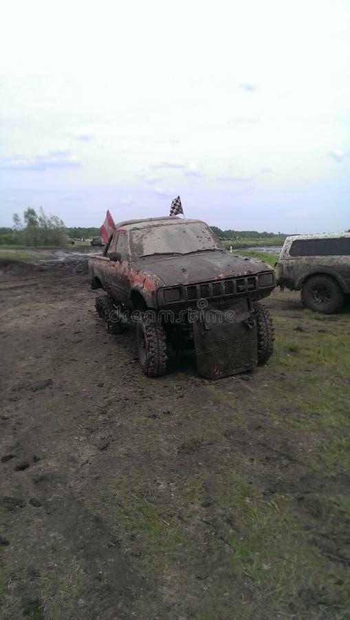 Camión del fango de Toyota imagen de archivo