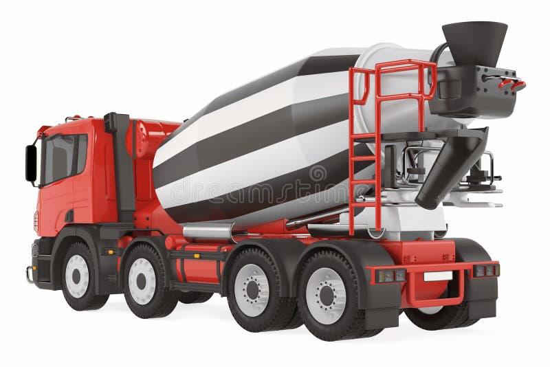 Camión del mezclador de cemento detrás aislado libre illustration