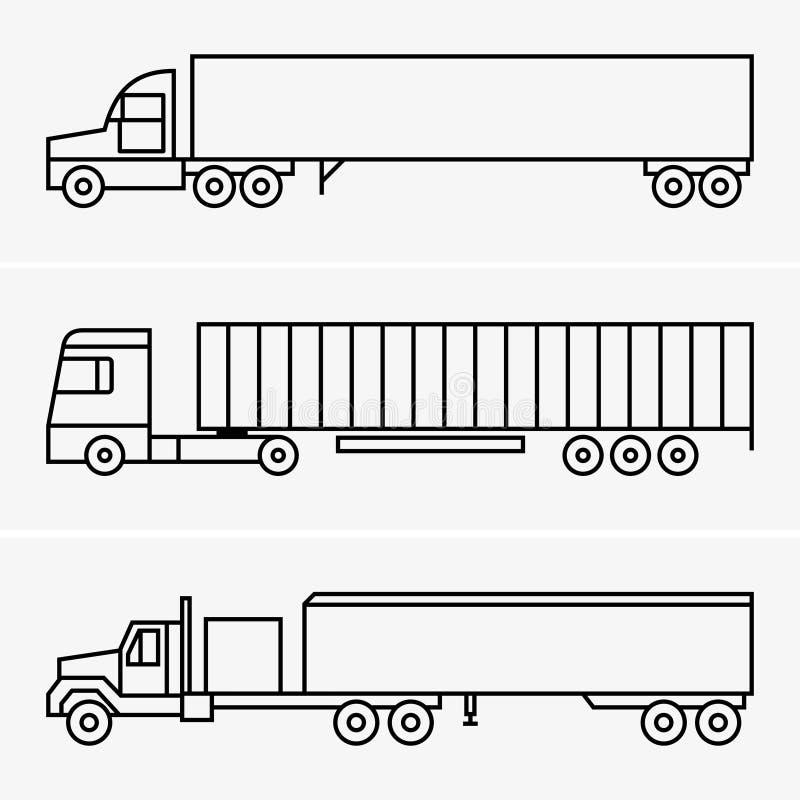 Camión del semi-remolque stock de ilustración