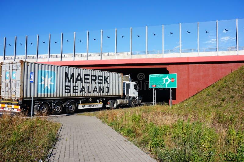 Camión del transporte foto de archivo