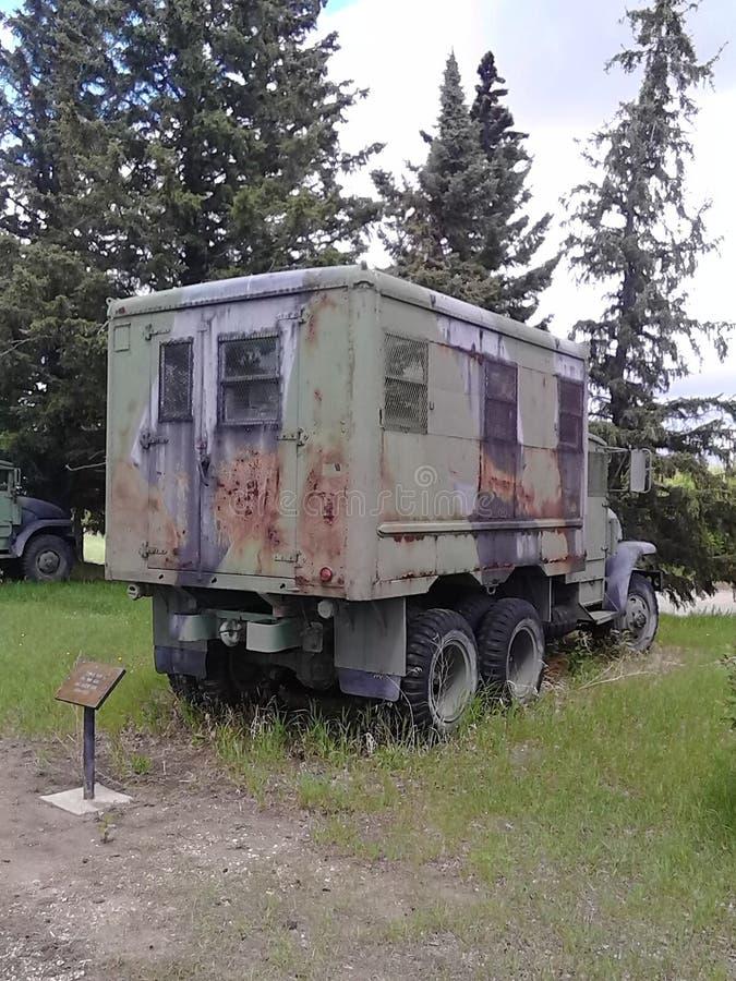 Camión del transporte de la prisión WW2 imágenes de archivo libres de regalías