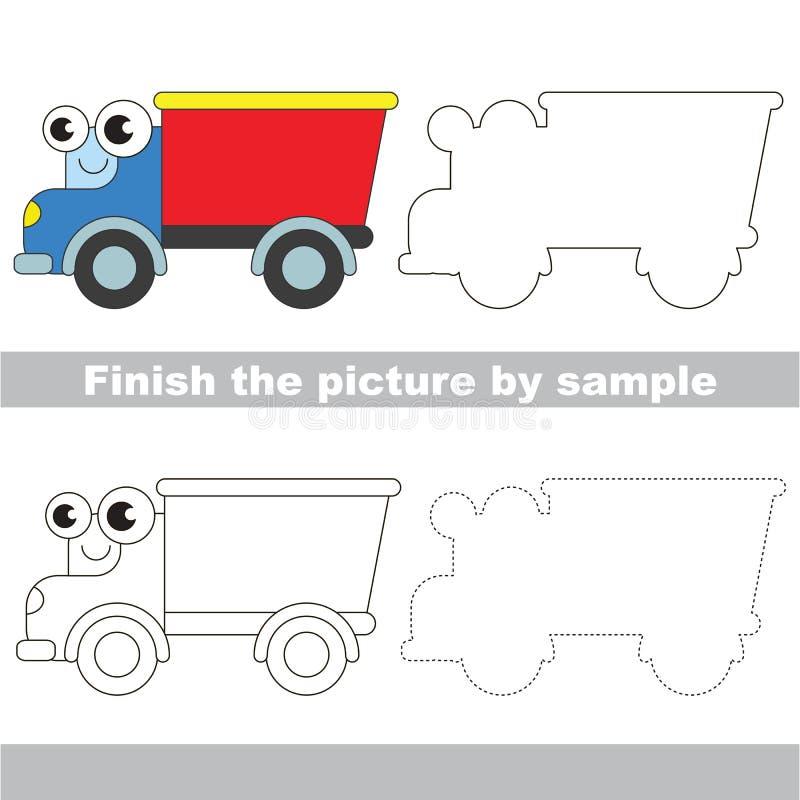 Camión divertido Hoja de trabajo del dibujo libre illustration