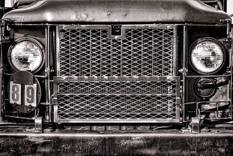 Camión Front Grille del cargo del ejército de M35 Estados Unidos imagen de archivo