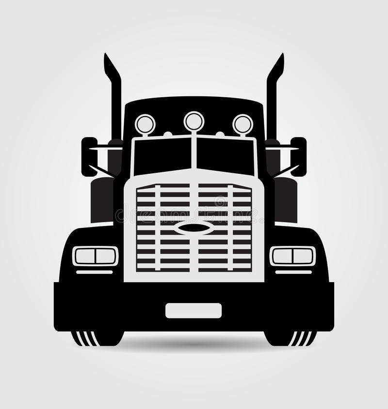 Camión genérico del semi-remolque stock de ilustración