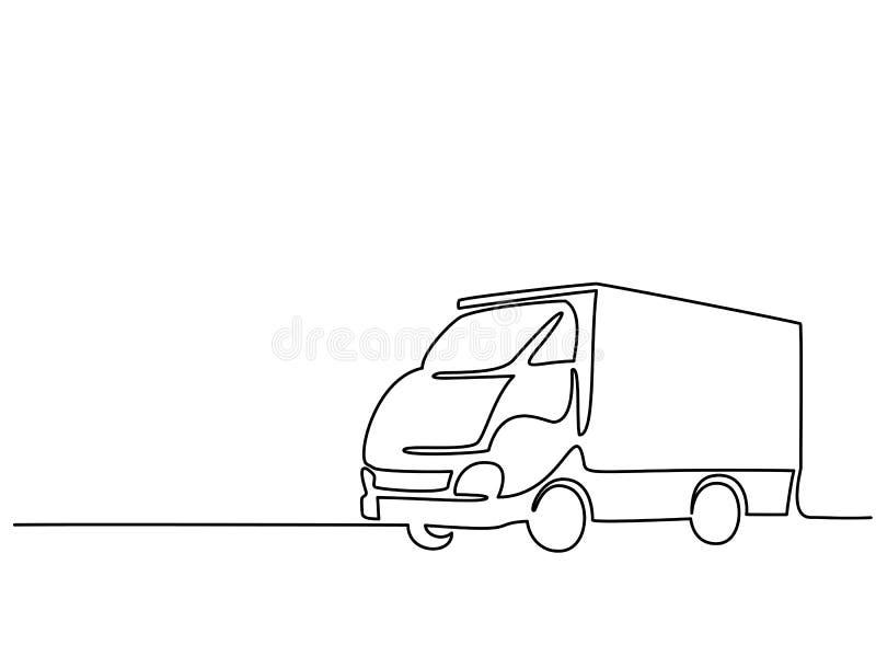 Camión grande del concepto stock de ilustración