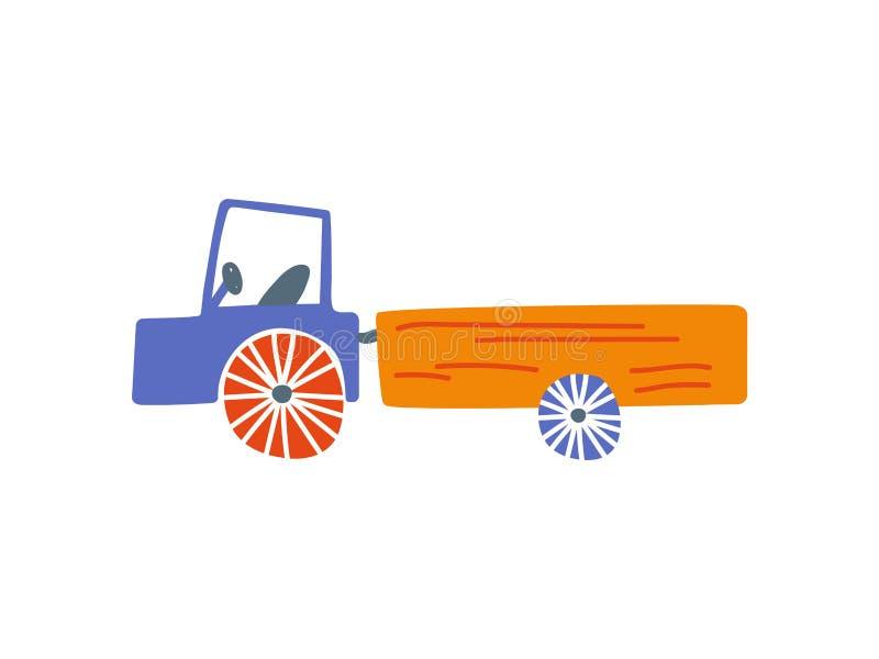 Camión lindo, camión del cargo de la entrega, ejemplo del vector de la historieta de la vista lateral ilustración del vector