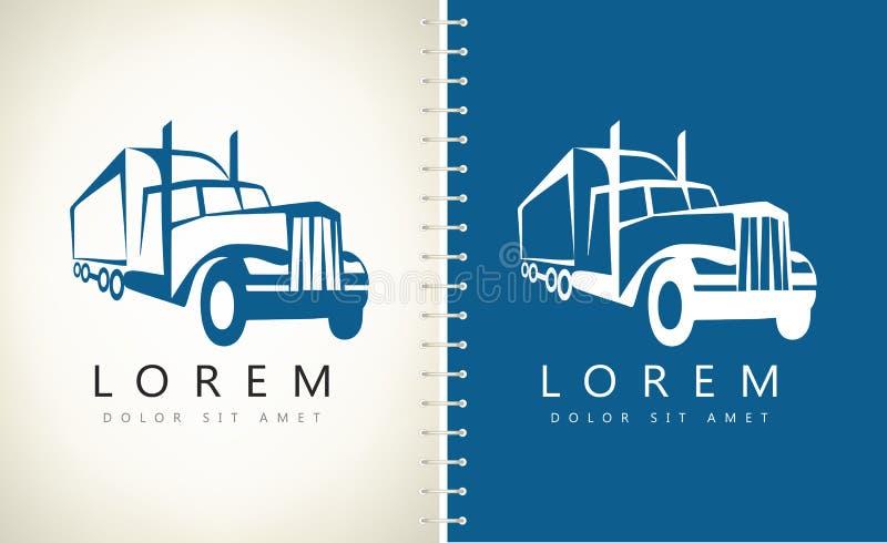 Camión Logo Vector stock de ilustración
