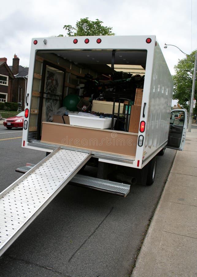 Camión móvil en la calle fotografía de archivo libre de regalías