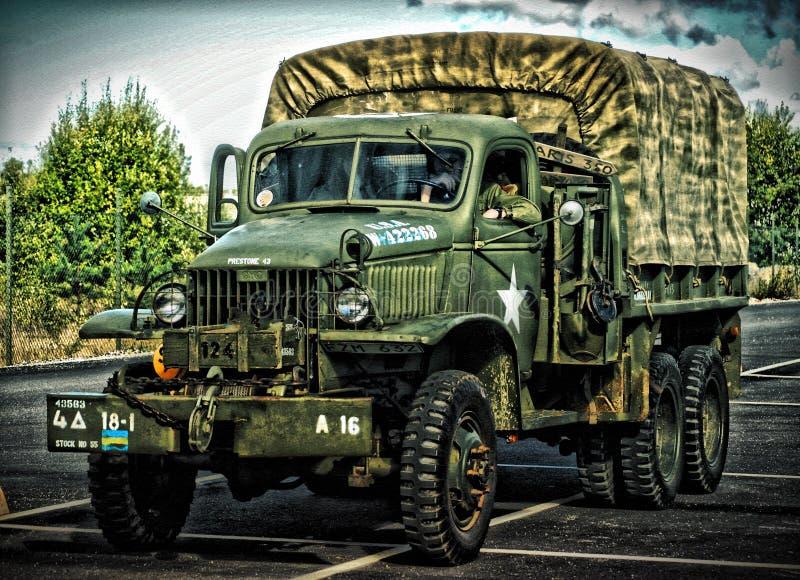 Camión militar HDR del vintage foto de archivo