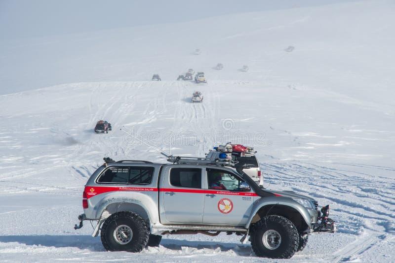 Camión modificado de Toyota Hilux de la búsqueda y del rescate de Islandia imágenes de archivo libres de regalías