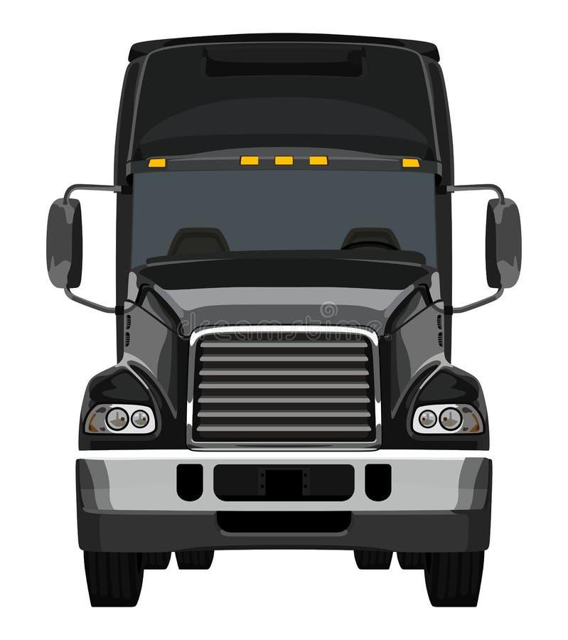 Camión negro delantero ilustración del vector