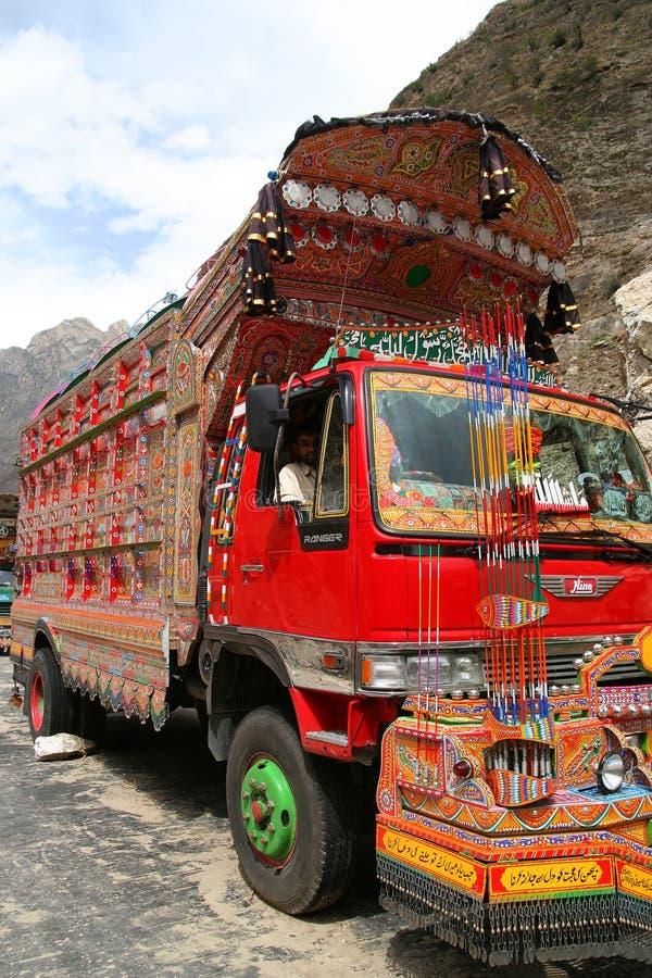 Camión paquistaní imagen de archivo libre de regalías