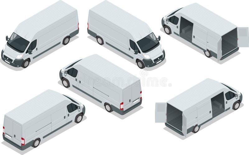 Camión para el cargo del transporte Van para ilustración del vector