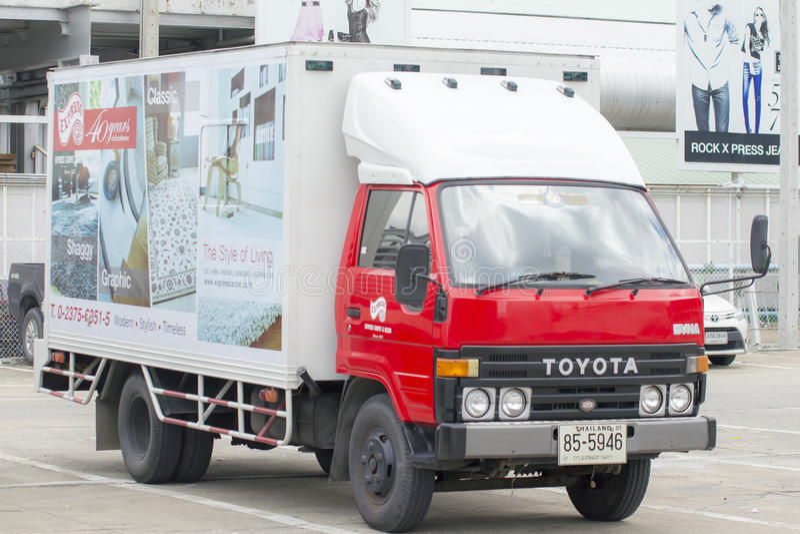Camión privado del cargo de Toyota foto de archivo