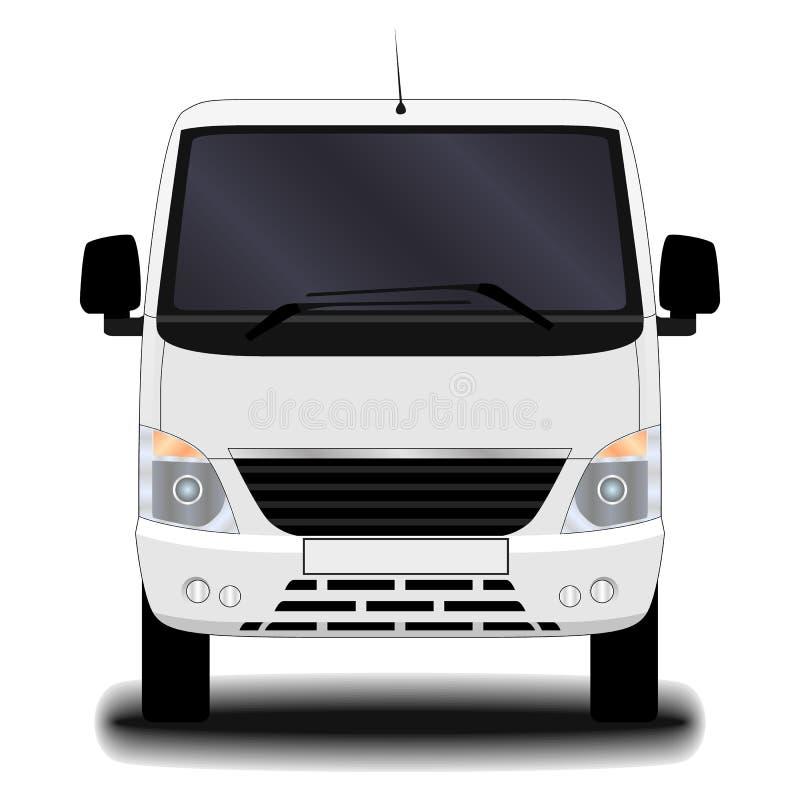 Camión realista Front View ilustración del vector