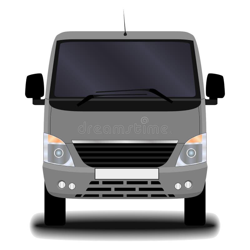 Camión realista Front View stock de ilustración