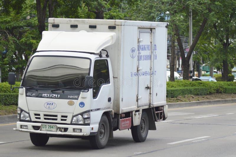 Camión refrigerado del envase imagen de archivo libre de regalías
