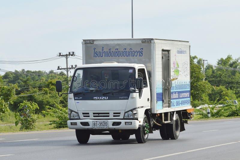 Camión refrigerado del envase fotografía de archivo libre de regalías