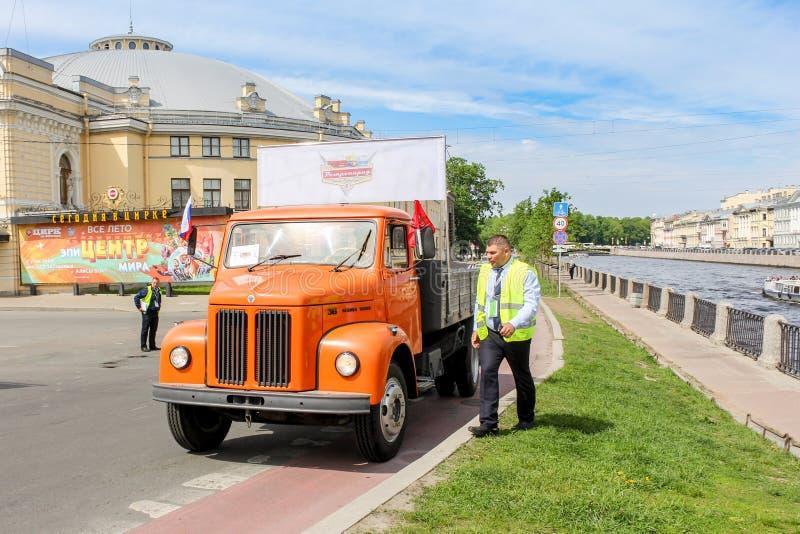 Camión retro Scania 36 fotografía de archivo
