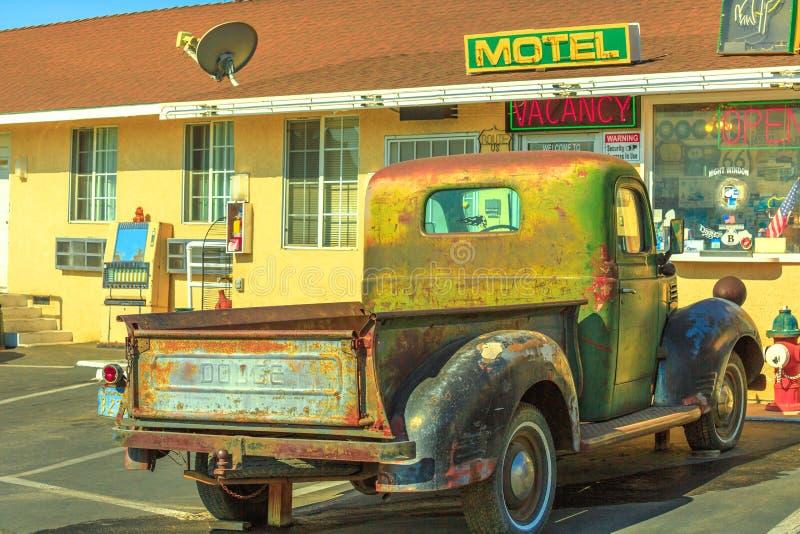 Camión Route 66 de Dodge fotografía de archivo