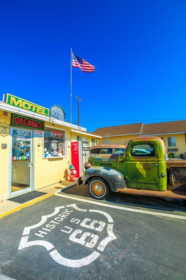 Camión Route 66 de Dodge imagen de archivo