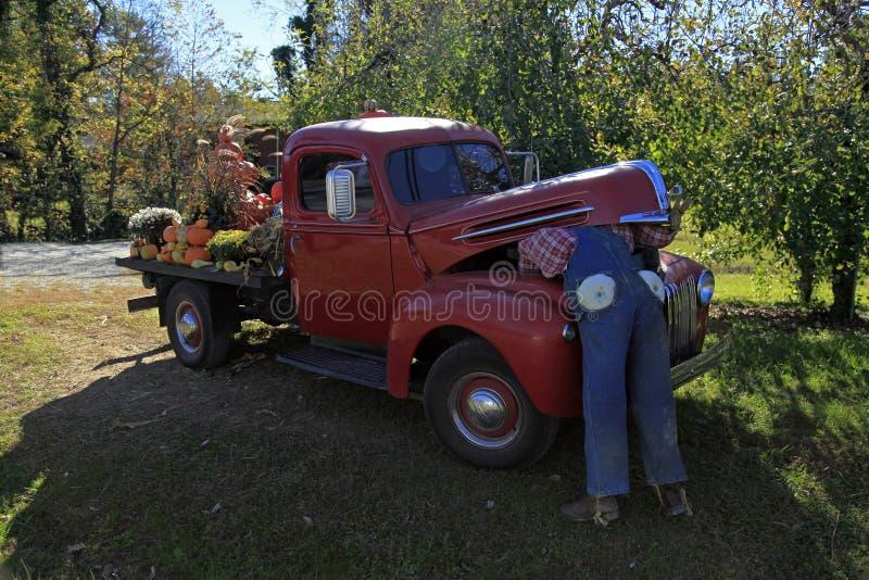 Camión viejo de Ford en Hendersonville imagen de archivo