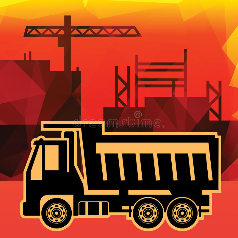 Camión volquete ilustración del vector
