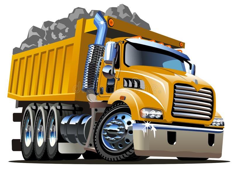 Camión volquete de la historieta stock de ilustración