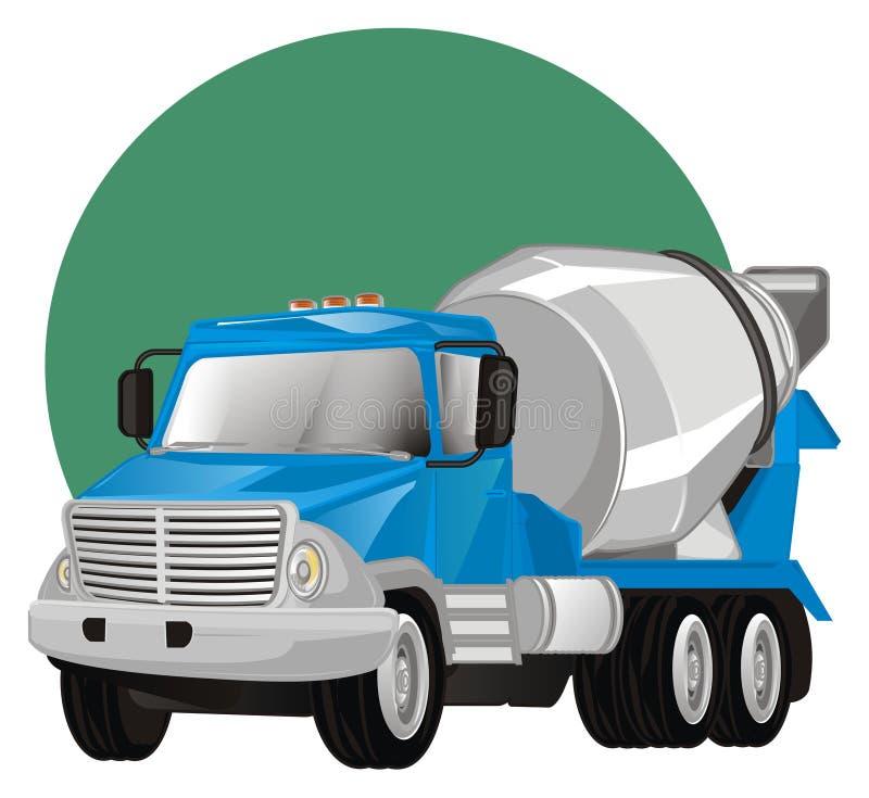 Camión y muestra del cemento stock de ilustración