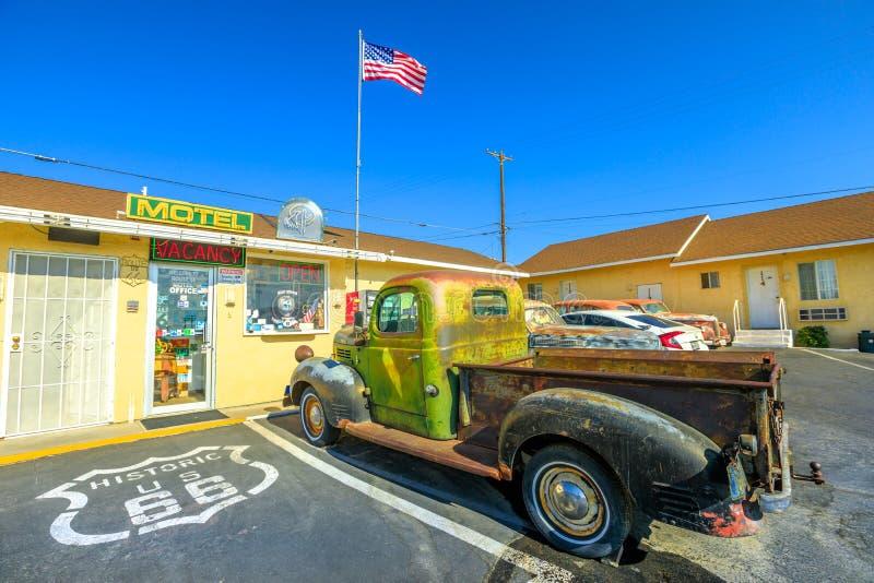 Cami?n Route 66 de Dodge fotografía de archivo libre de regalías