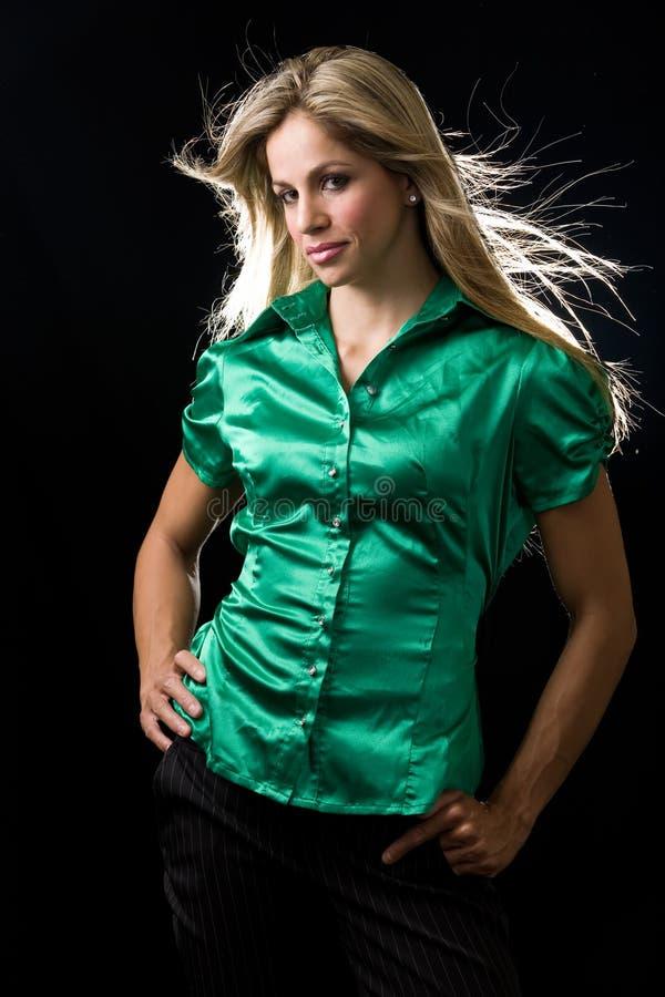 Camicetta verde fotografie stock libere da diritti