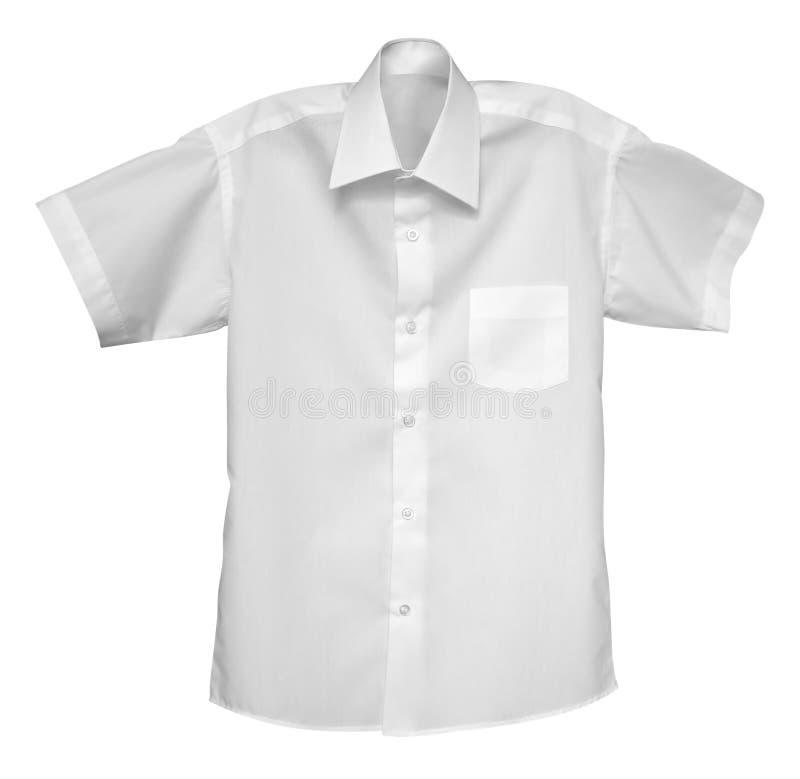 Camicia bianca isolata sul bianco immagini stock libere da diritti