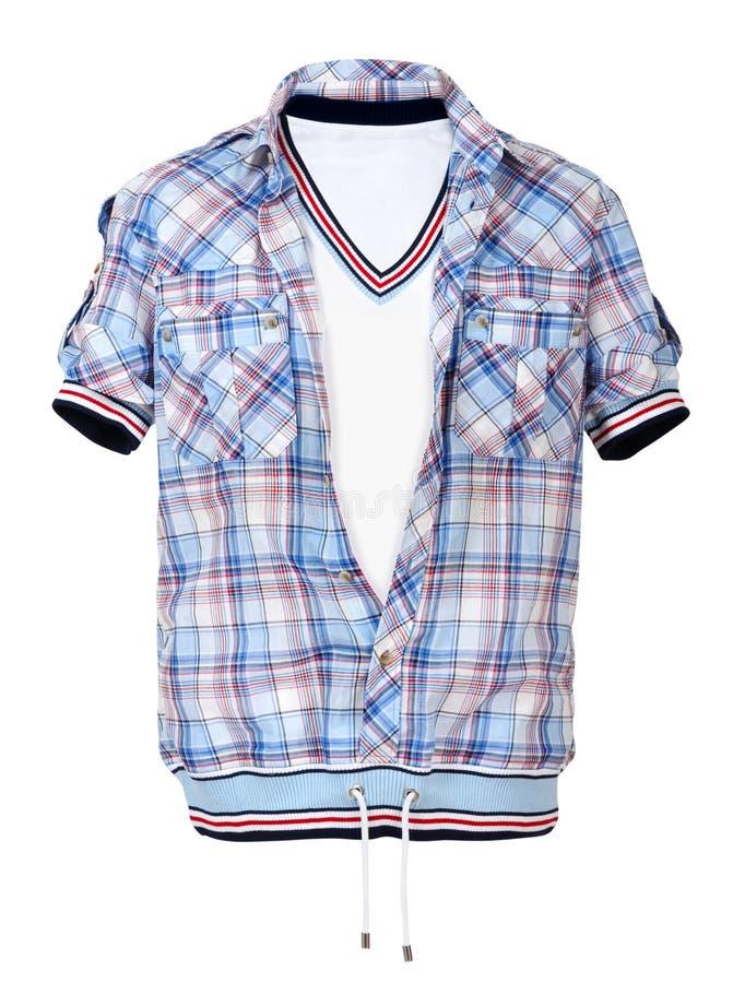 Camicia Checkered fotografia stock