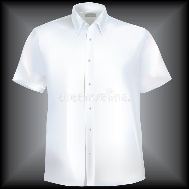 Camicia con il collare ed i manicotti mezzi illustrazione di stock