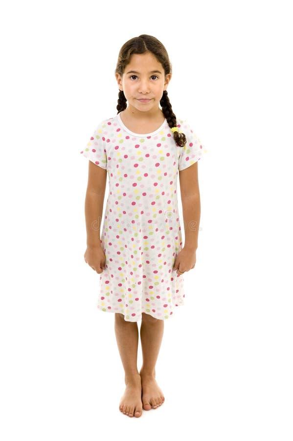 Camicia da notte della bambina fotografie stock