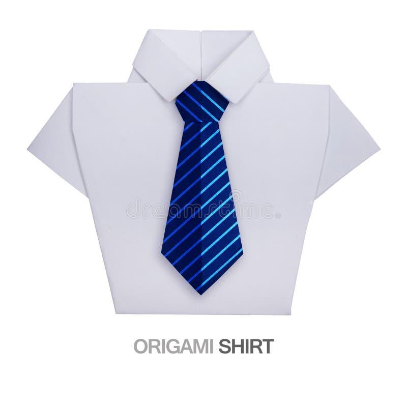 Camicia di origami con il legame fotografia stock