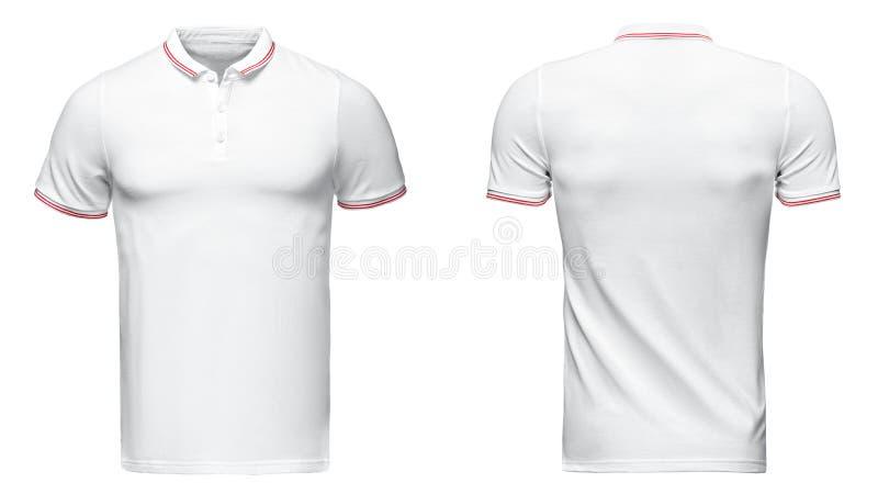 Camicia di polo bianca, vestiti immagini stock libere da diritti