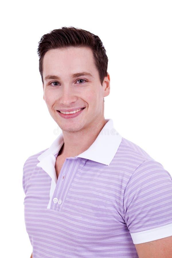 Camicia di polo da portare del giovane immagine stock