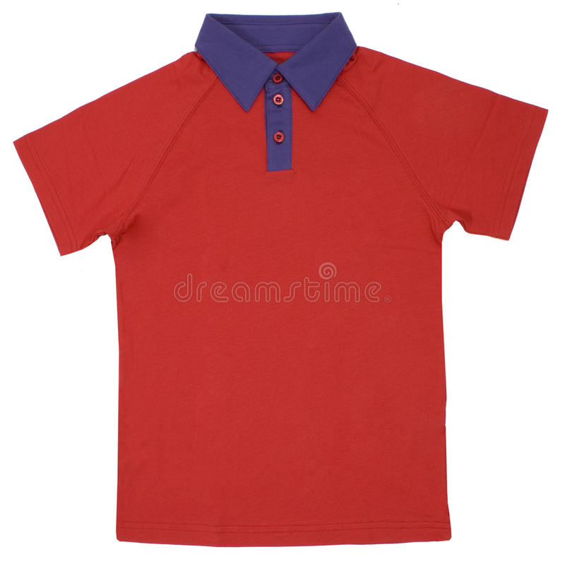 Camicia di polo isolata su fondo bianco fotografie stock