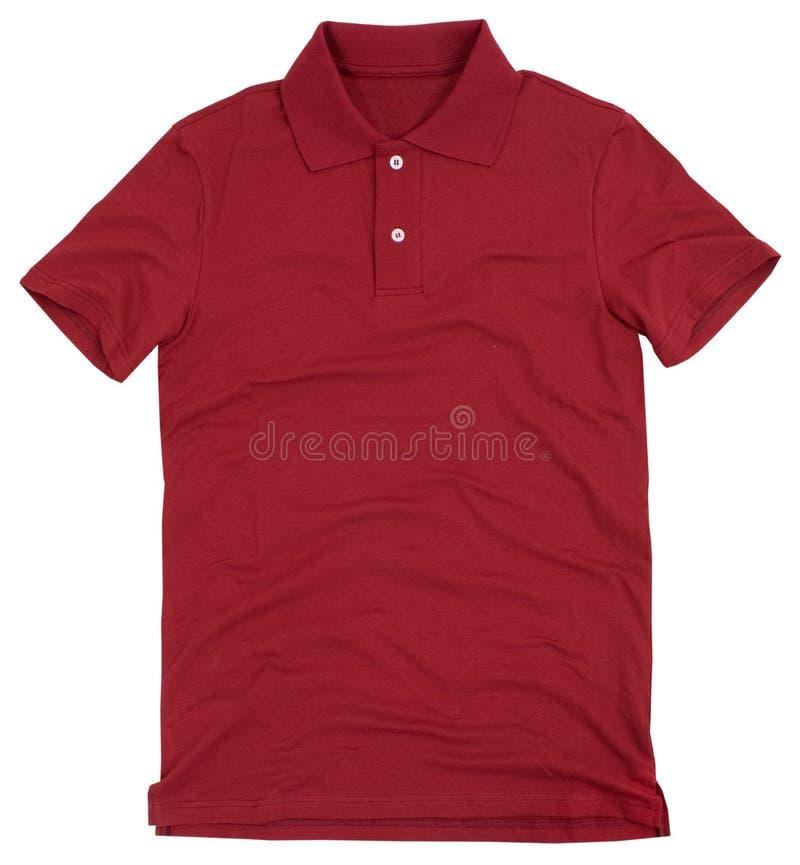 Camicia di polo isolata su fondo bianco immagine stock
