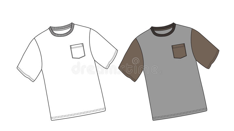 Camicia di vettore immagine stock