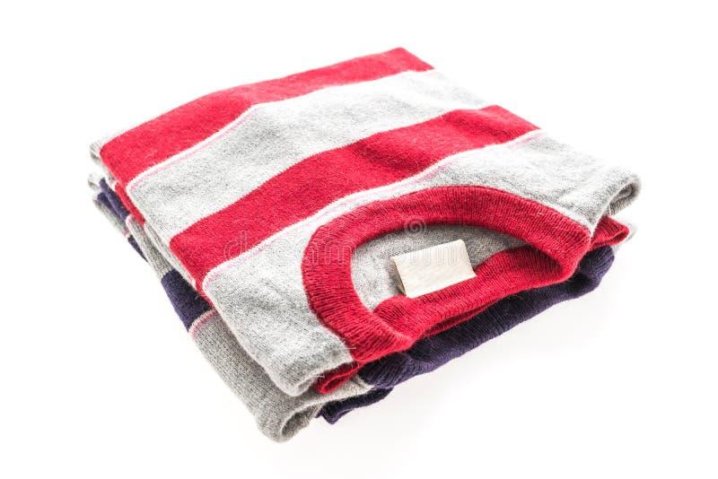 Camicia e abbigliamento del maglione della lana immagine stock